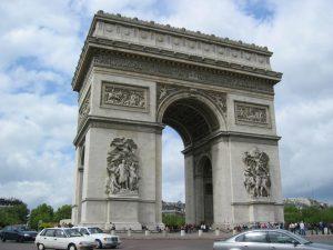 エトワール凱旋門(フランス,パリ,シャンゼリゼ通り)